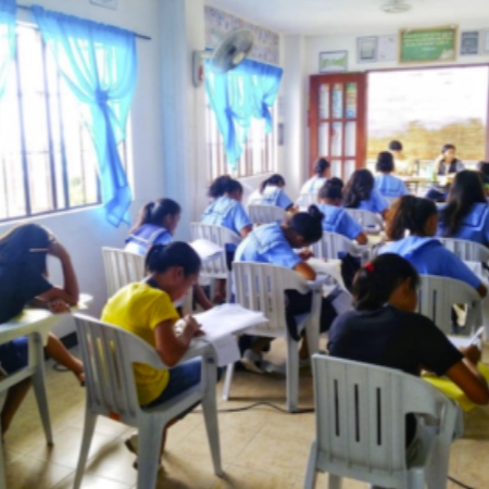 Girls Taking Achievement Tests for High School