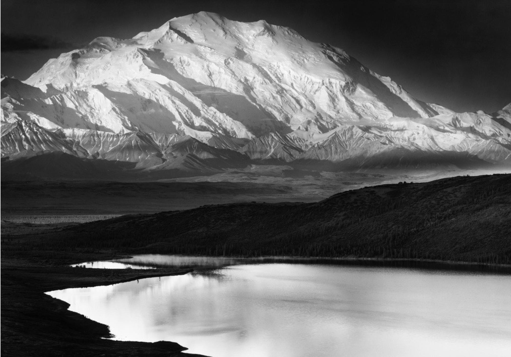Ansel Adams   , Mount McKinley and Wonder Lake Denali National Park, Alaska 1947