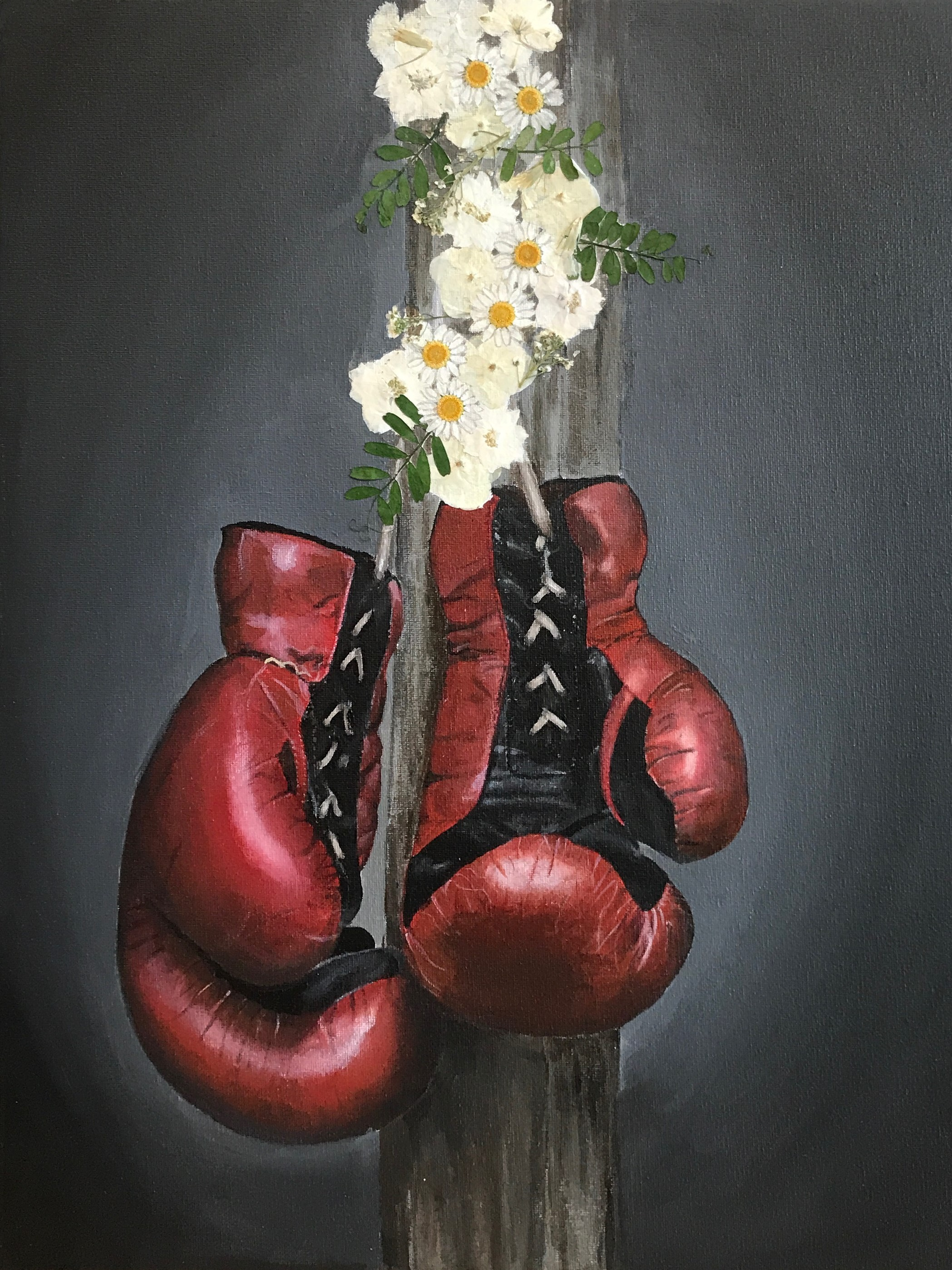 Annabelle Schlesinger  Fight Like a Girl, 2019  Acrylic on Canvas, 20x16in