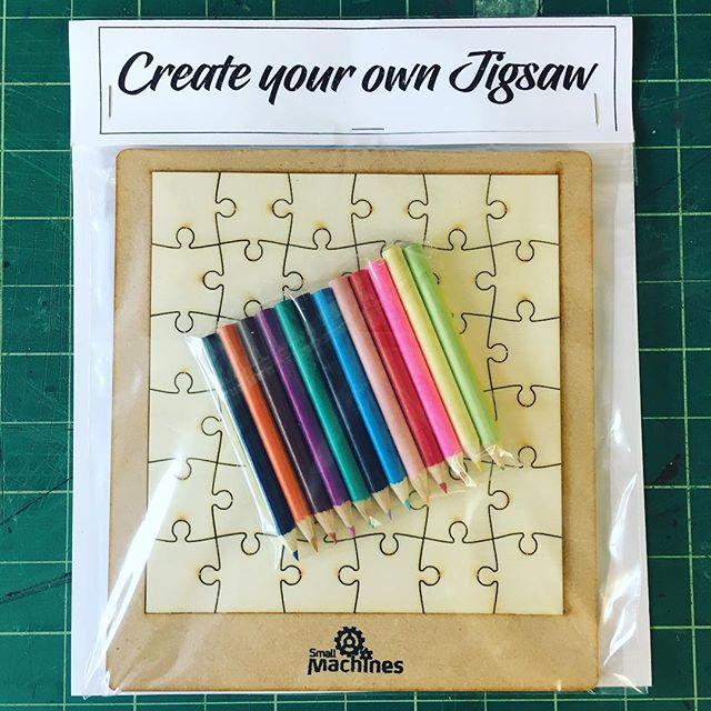 A 36 piece blank wooden jigsaw, a dozen colouring pencils, 21 prompts for possible jigsaw image ideas, think about it.........your very own wooden jigsaw. One of a kind, your own creation. What's not to like?