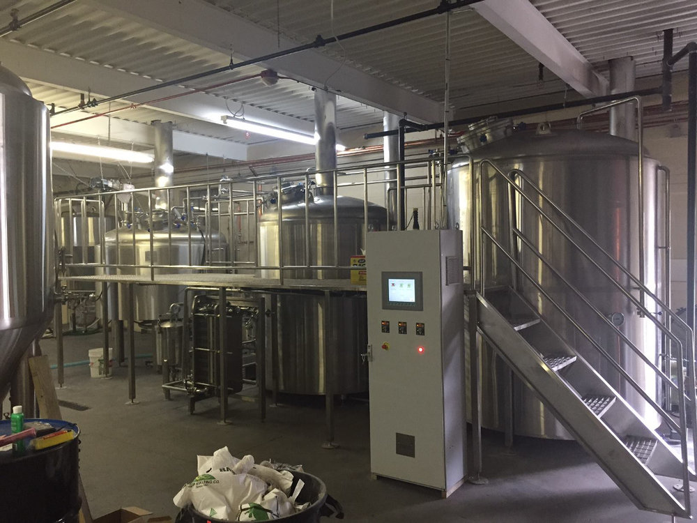 Our 15 barrel brewhouse