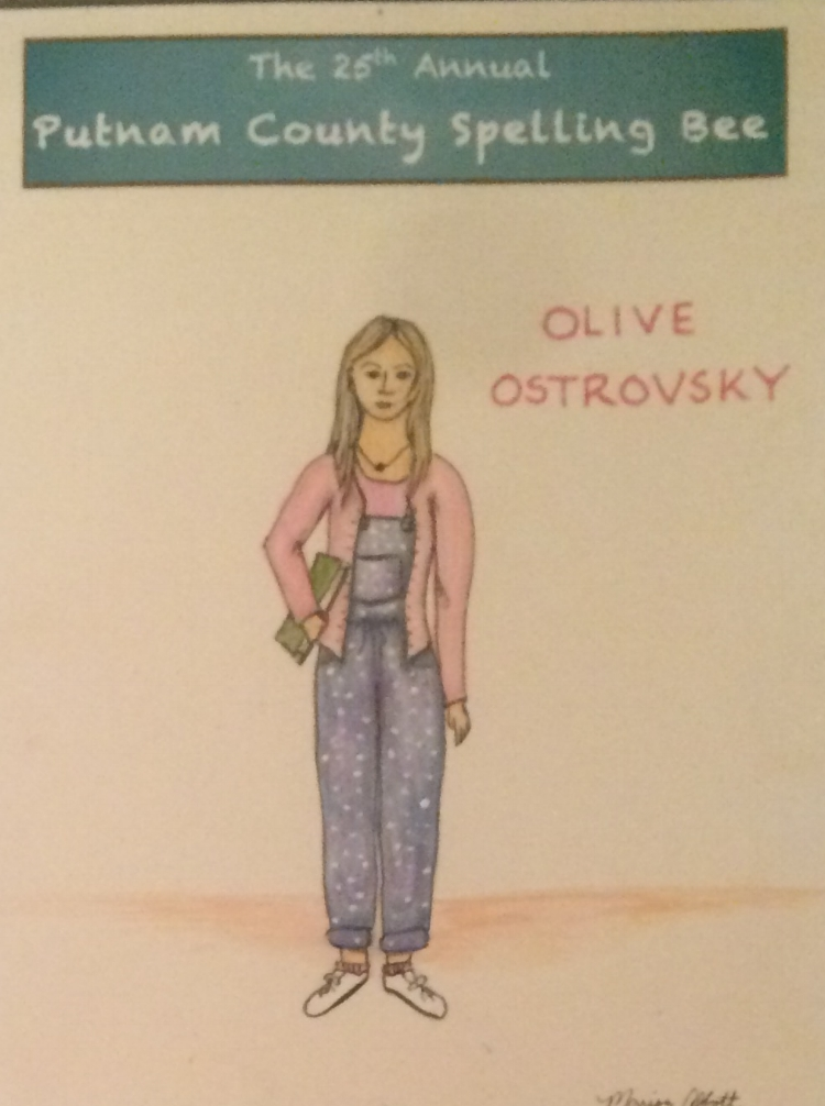 THE 25TH ANNUAL PUTNAM COUNTY SPELLING BEE  Olive Ostrovsky  Costume Design by Marisa Abbott  Watercolor