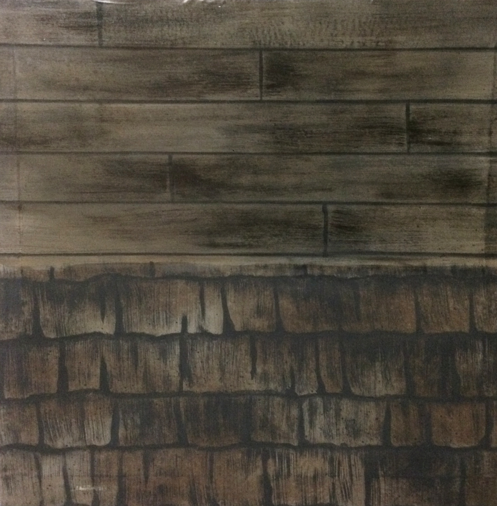 Wooden Floor / Rooftop Shingles Paint Sample 2015