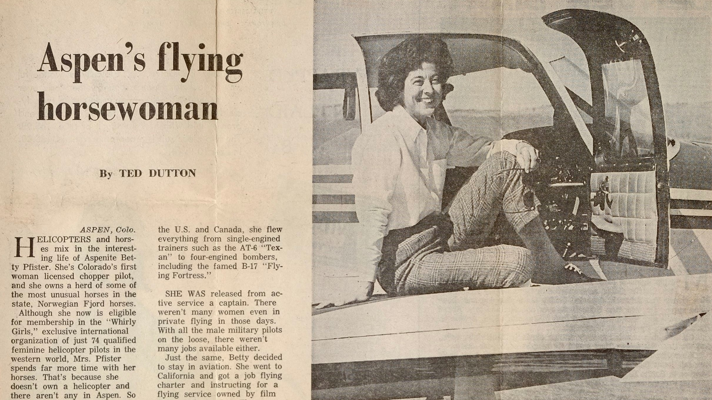 Aspen's flying horsewoman
