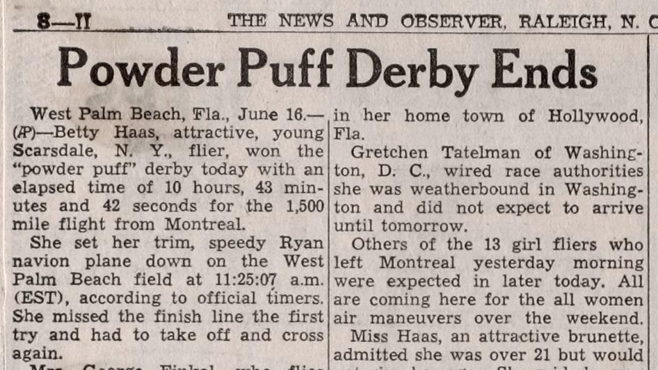 powder puff derby ends