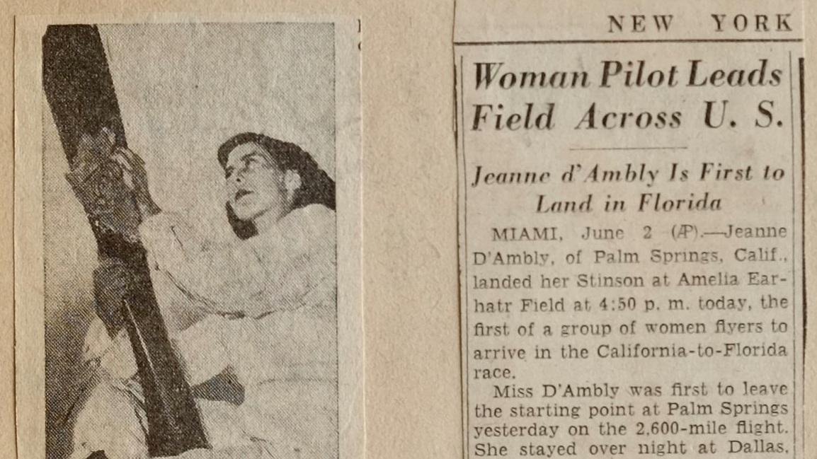 Woman pilot leads field across U.S.