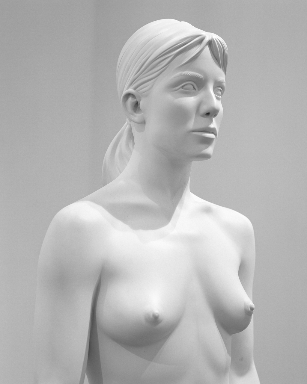 Charles Ray  Aluminum Girl 2003  63 x 18 x 11 inches  Painted aluminum