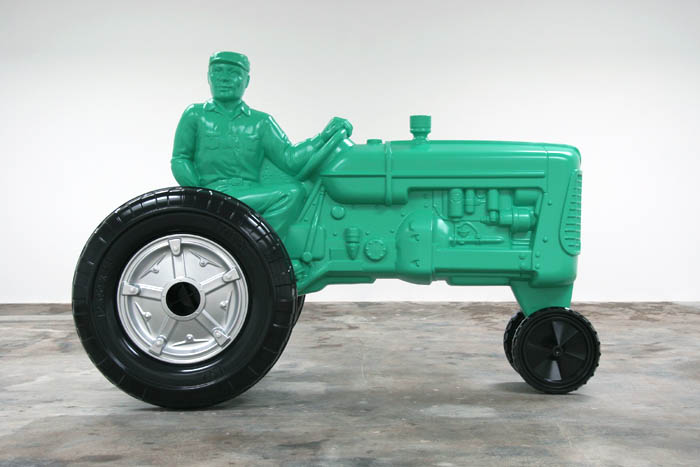 Charles Ray  Father figure 2007  Painted steel  93.75 x 137.25 x 71.75 inches