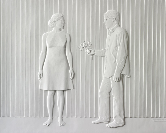Charles Ray  Light From the Left 2007  84.75 x 105.25 x 2.25 inches  Cast fiberglass, stainless steel, aluminum, acrylic polyurethane