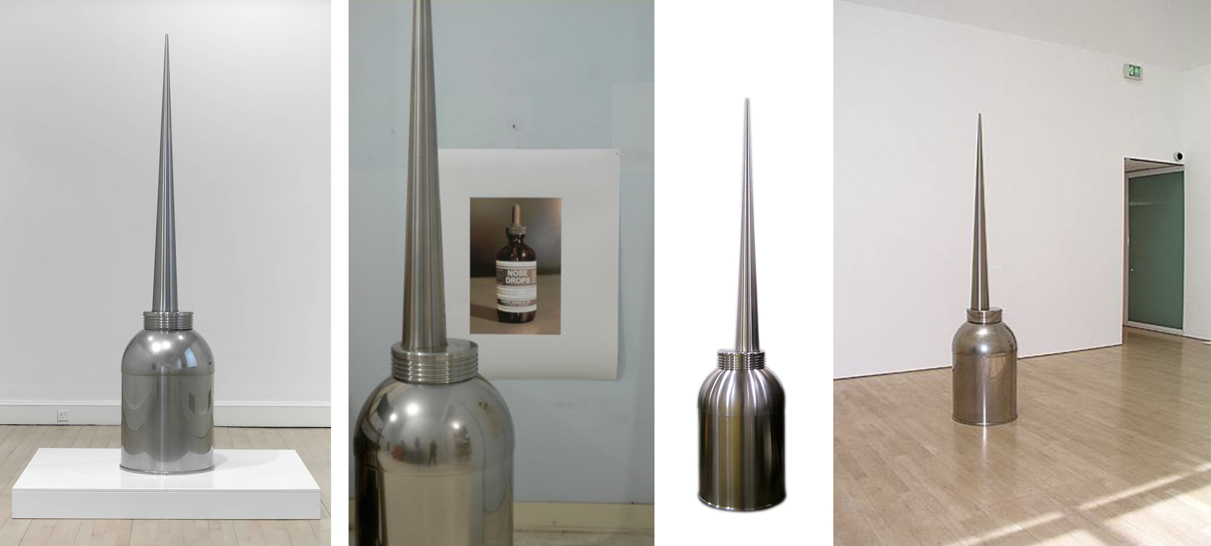 Robert Therrien  No title (Oil can) 2010  97 x 22 x 22 inches  Stainless steel      View More Robert Therrien