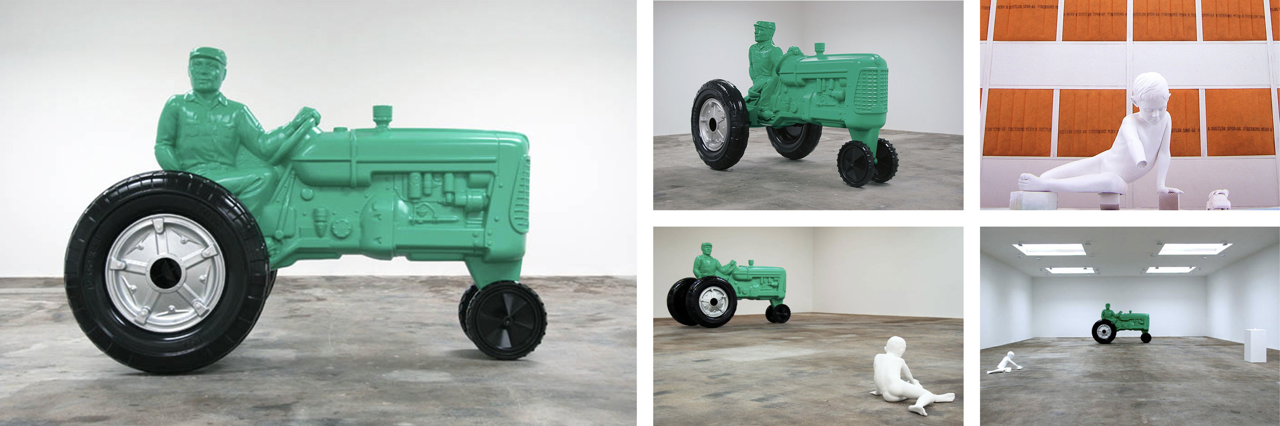 Charles Ray  Father figure 2007  Painted steel  93.75 x 137.25 x 71.75 inches      View More Charles Ray