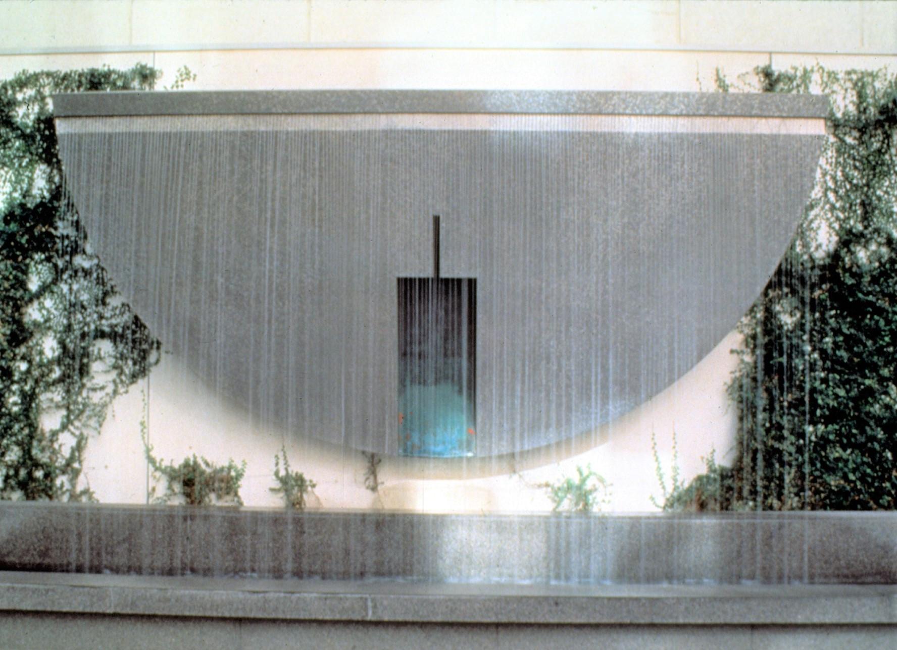 Lita Albuquerque  Site/Memory/Reflection – Fountain 1994  Stainless steel and copper  18 feet dia.      View More Lita Albuquerque