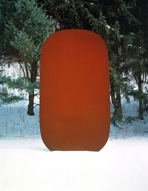 Ellsworth Kelly Stele 1 1973  Weathered steel Collection San Francisco MOMA  216 x 120 x 1 inches      View More Ellsworth Kelly