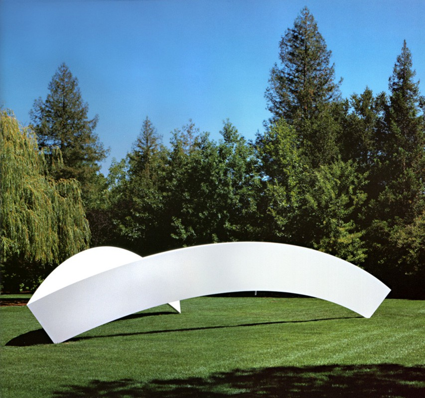 Ellsworth Kelly  Two Curves 2001 Painted aluminum  91 x 452 x 328 inches      View More Ellsworth Kelly