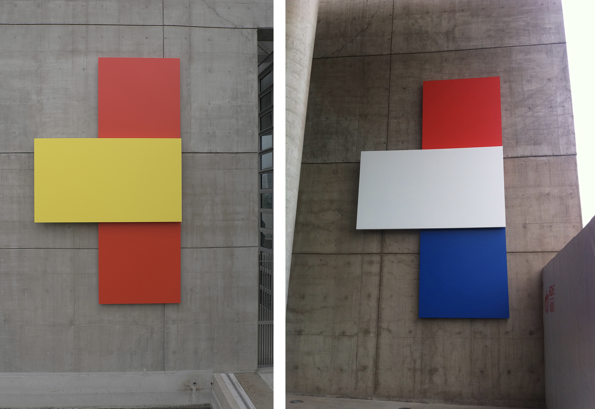 Ellsworth Kelly  Untitled 2004 (EK920) Painted aluminum, two reliefs  American Embassy - Beijing, China  Each panel 225 x 132 x 11.15 inches      View More Ellsworth Kelly
