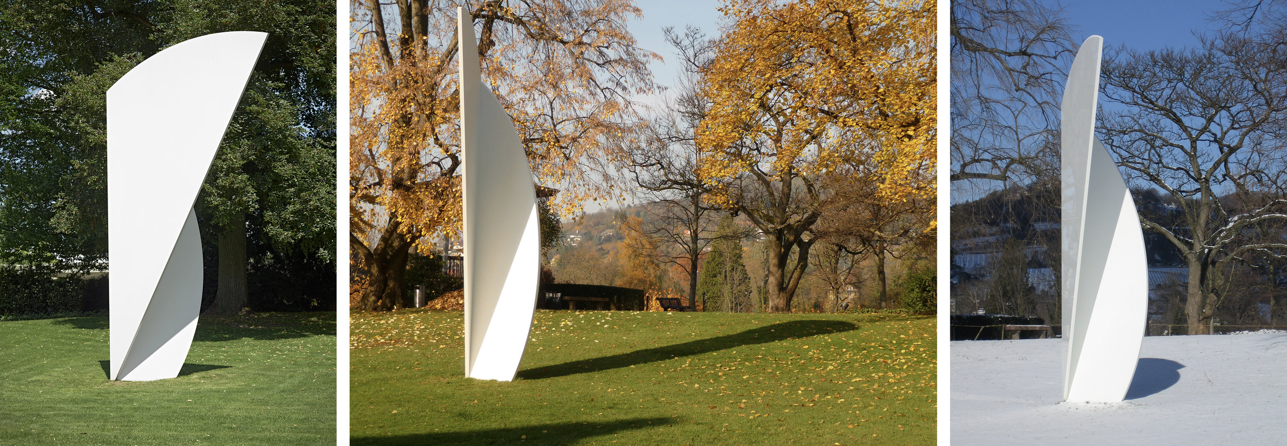 Ellsworth Kelly  White Curves 2001 (EK903) Aluminum, coated with polyurethane  234 x 131.875 x 49.5 inches      View More Ellsworth Kelly