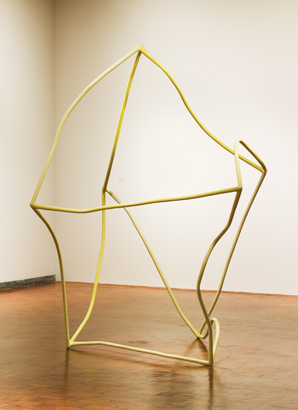 Liz Larner  Two or Three or Something 1998–99 Steel, paper, and watercolor  101 × 84 × 64.25 inches