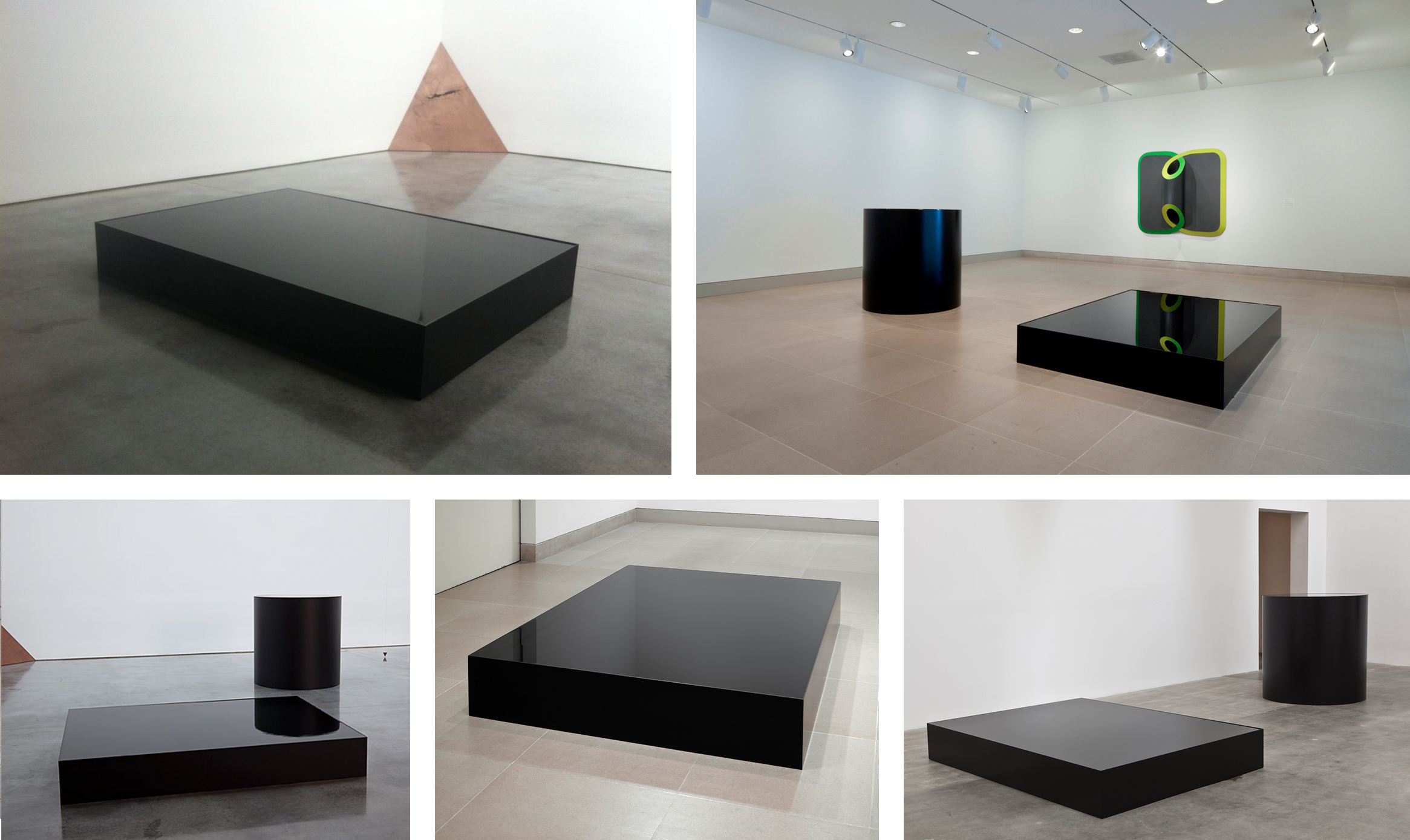 Nobuo Sekine Phase of Nothingness Water 1969 / 2012 Steel, lacquer, water  30 x 220 x 160, 120 x 120 x 120 centimeters      View More Nobuo Sekine