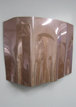 Carol Peligian  Nearly 2009  Hand-rolled aluminum, translucent paint  48 x 36 inches x variable dimensions     View More Carol Peligian