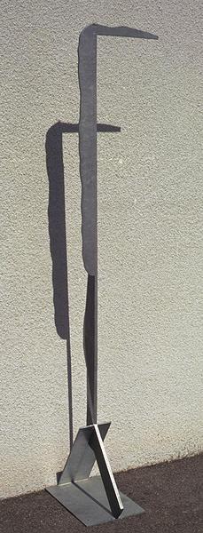 Isamu Noguchi  Giacometti's Shadow 1983  Galvanized steel  78 x 16 x 17 inches            View More Isamu Noguchi