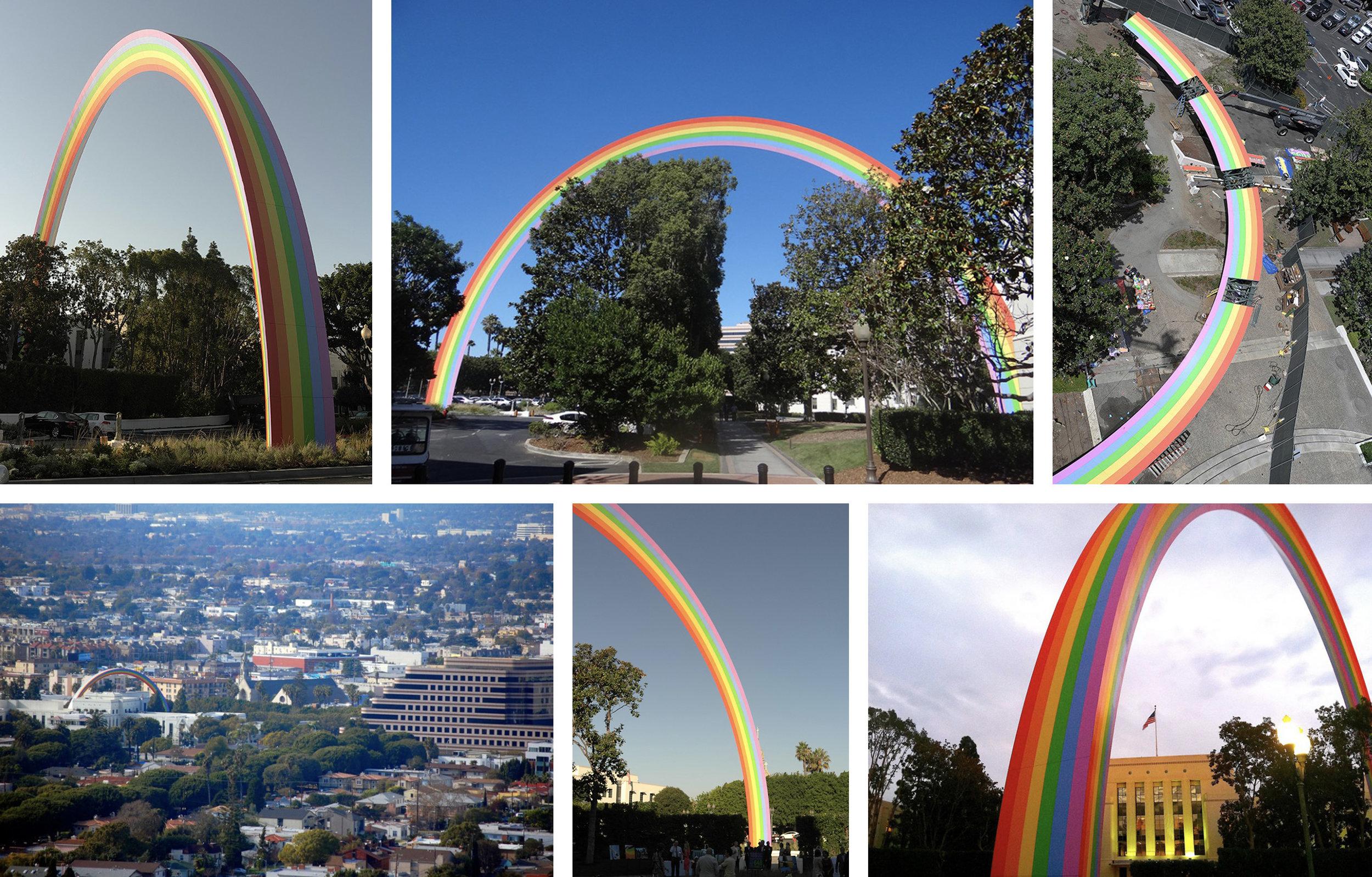 Tony Tasset Rainbow 2012 Resin based paint, steel, and aluminum 94 x 188 x 8 feet Culver City, California       View More Tony Tasset