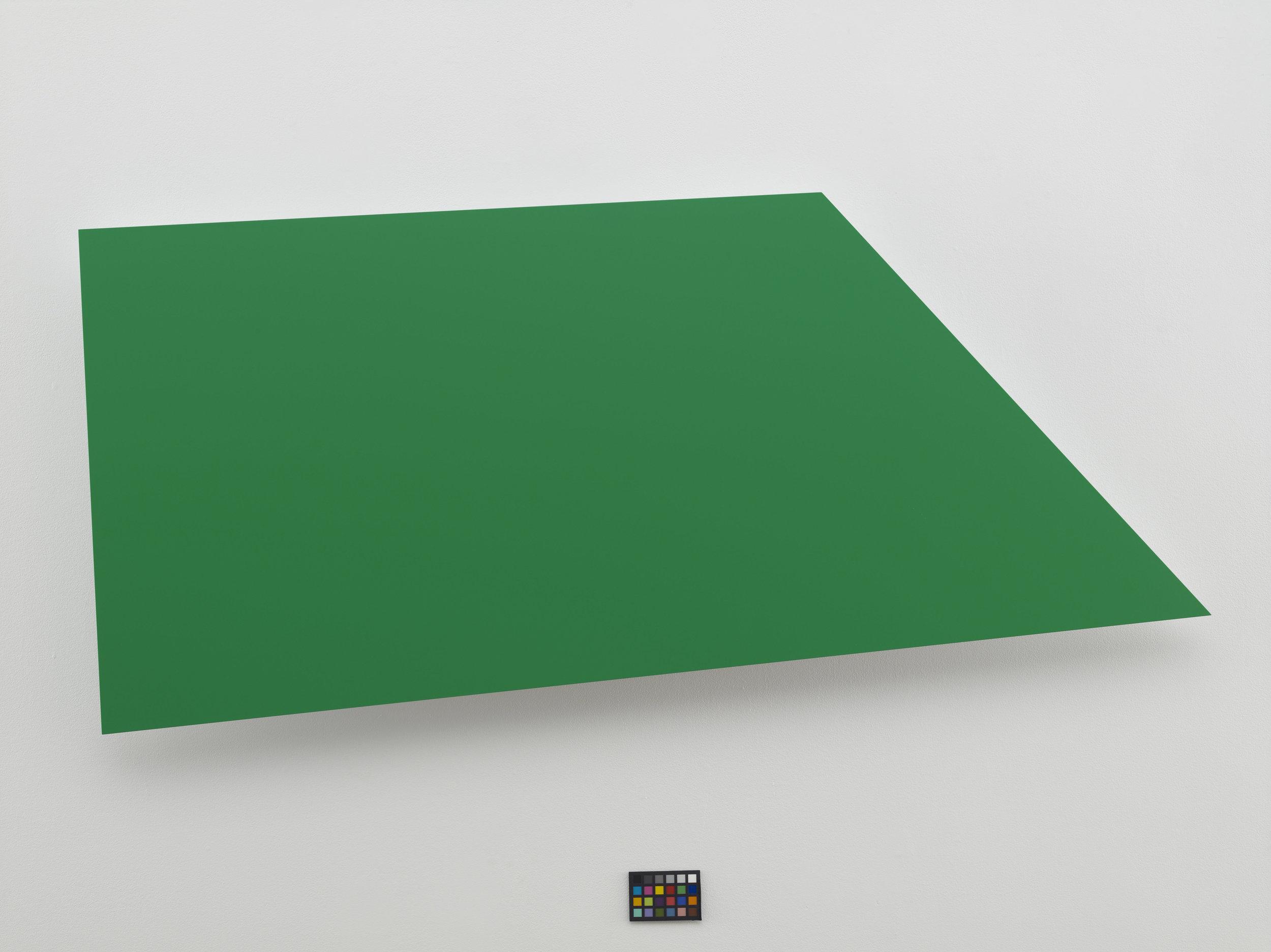 Ellsworth Kelly  Green Panel (EK1022)  Painted aluminum  22.25 x 49.5 x 22.25 x 49.5 inches      View More Ellsworth Kelly