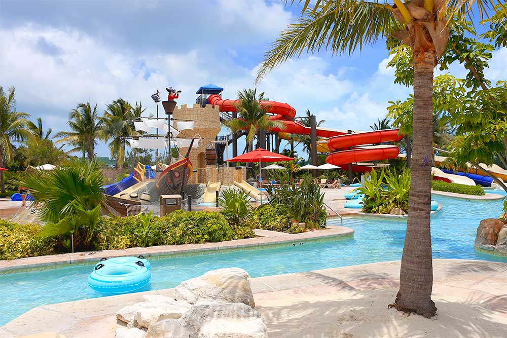 Beaches' Pirate's Island Waterpark packs a lot of fun into a relatively small footprint. It's a treat to go on a waterslide without waiting in a long line, and if there are a few clouds in the sky, you may find that you have an entire waterpark to yourself. Sweet!