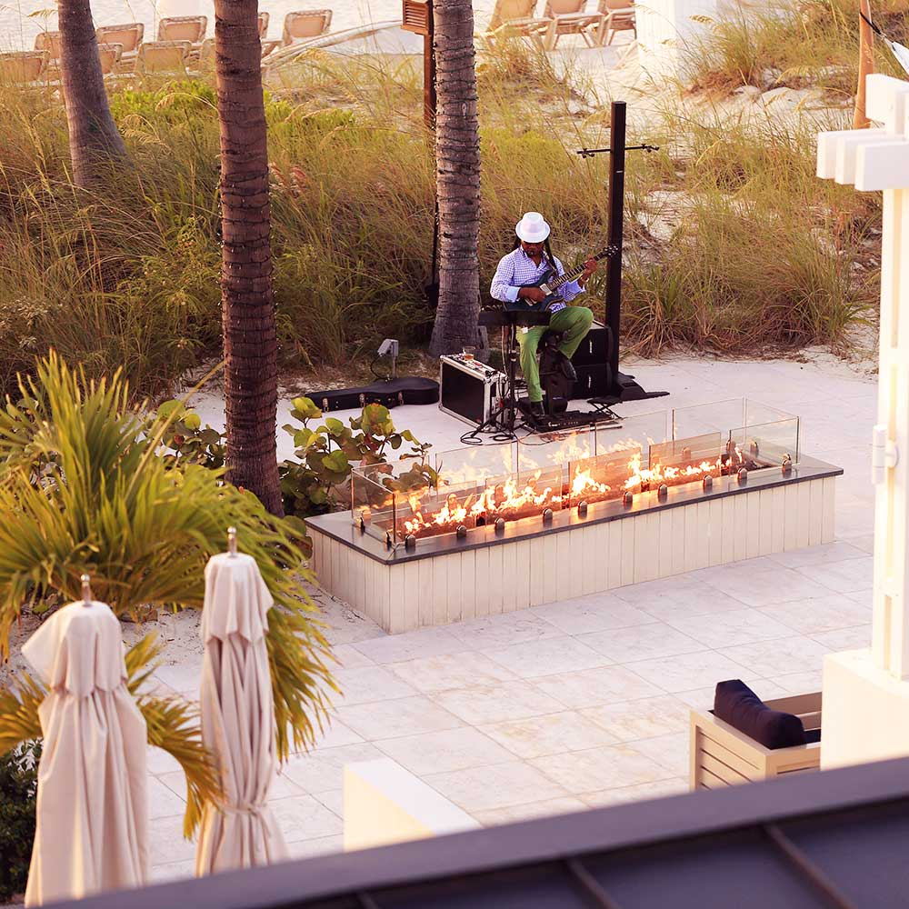 Live music at the Key West fire pit kicks off just in time to watch the sunset.