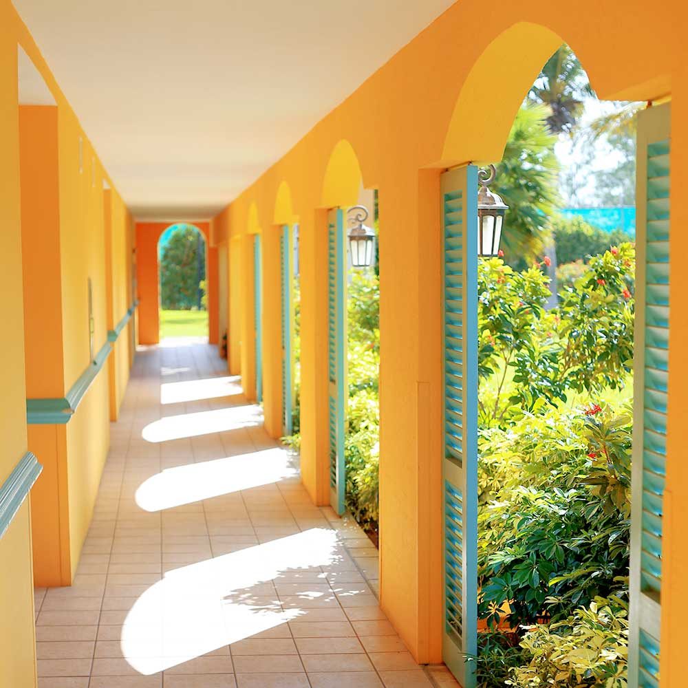 Our family's first stay at Beaches resort in Turks & Caicos was in the colorful French Village.