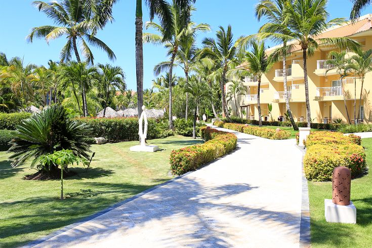 Dreams Punta Cana has tasteful landscaping and lots of space, creating a relaxed vibe.