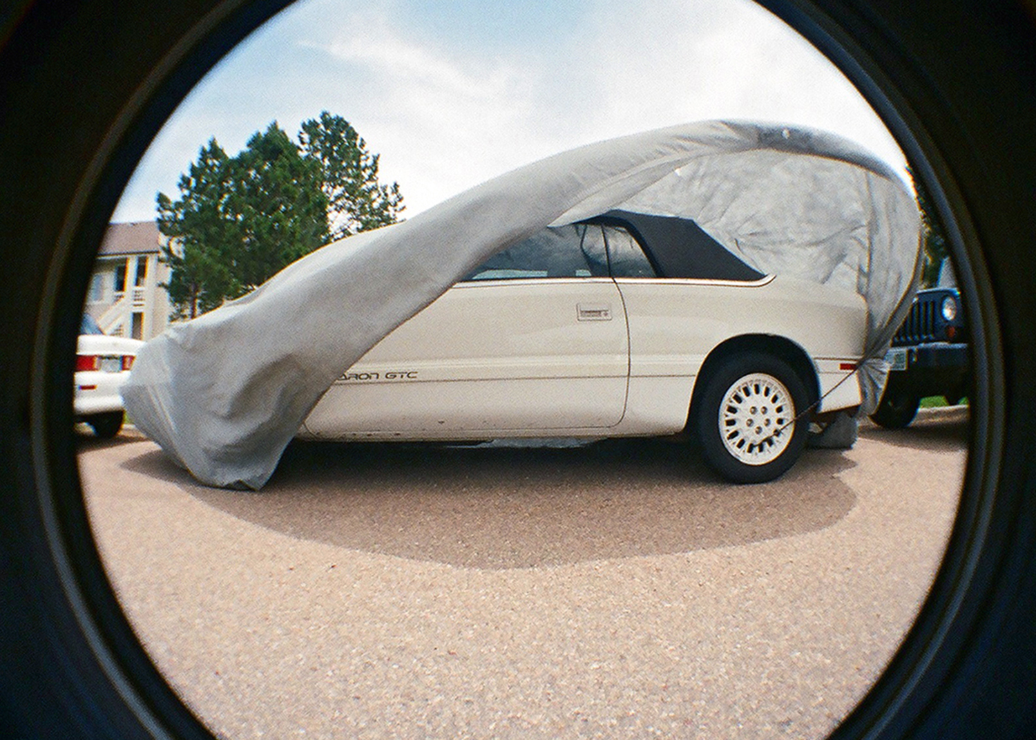 LeBaron GTC Drop-head Coupe by Chrysler  On a windy day in Gunbarrel, CO
