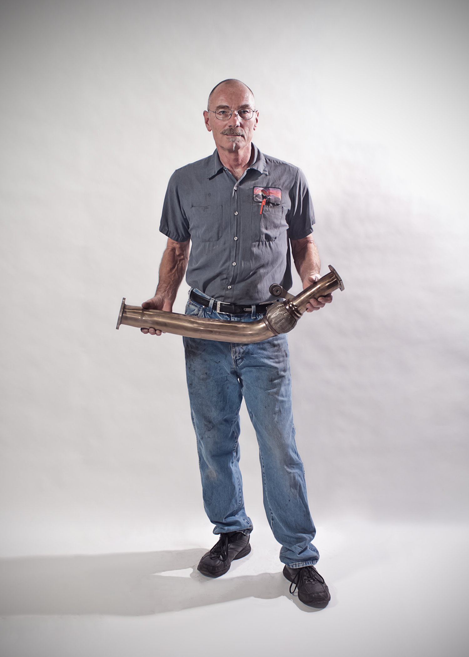 Tod  Master Auto Mechanic for the What I Wear To Work portrait series.