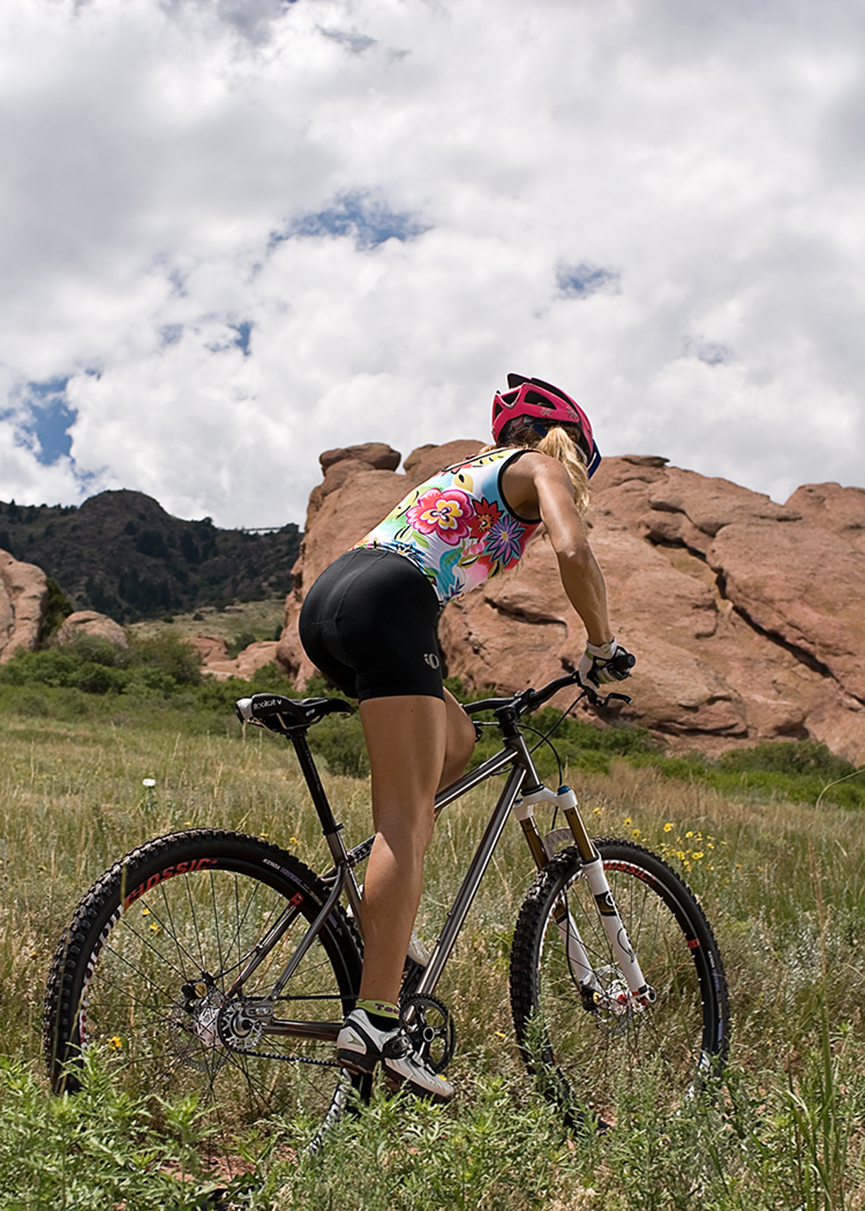 Cristina at Red Rocks  Location portrait for Gates Corporation and their CDS Belt Drive System for bicycles.