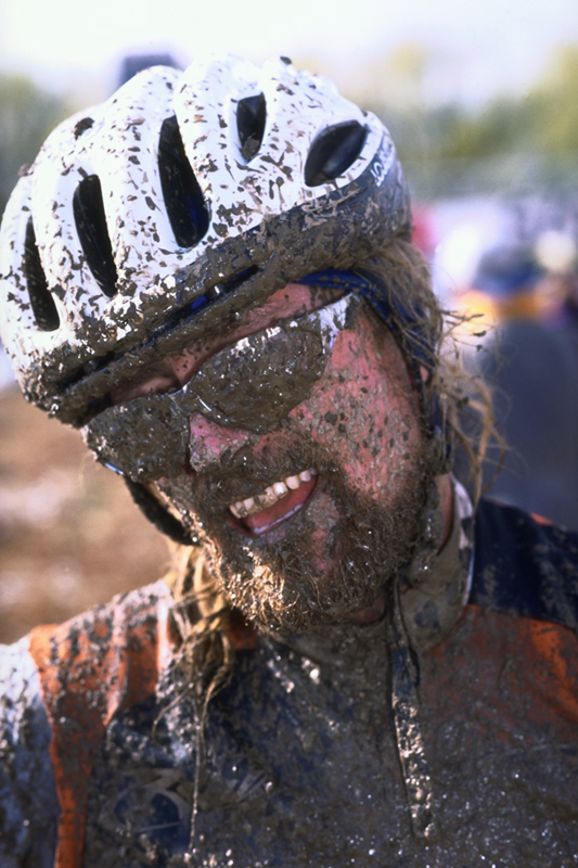 James  After a super muddy cyclocross race in Boulder, CO.