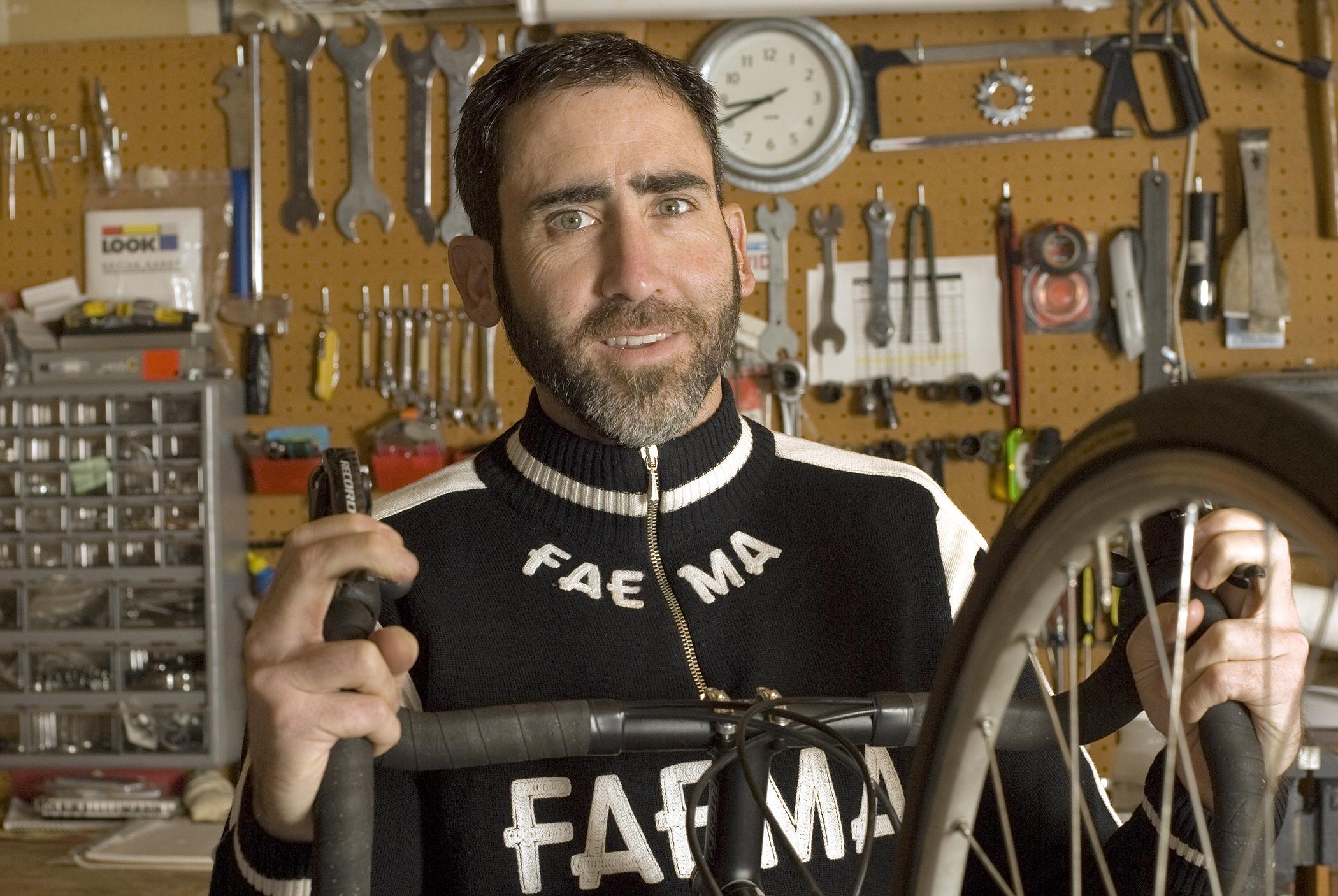 Dave and his Eddy Merckx  Environmental portrait for the My Favorite Bike portrait series.
