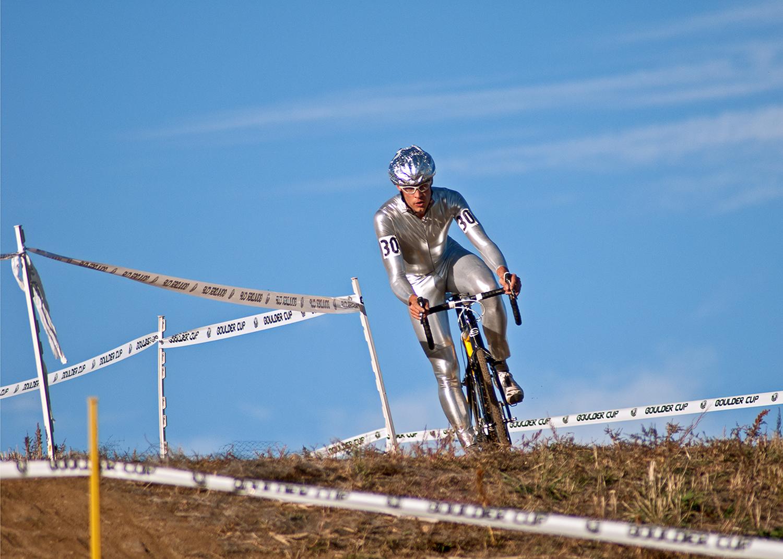 Russell on Halloween  Boulder Cup CX. Valmont Bike Park. Boulder, CO