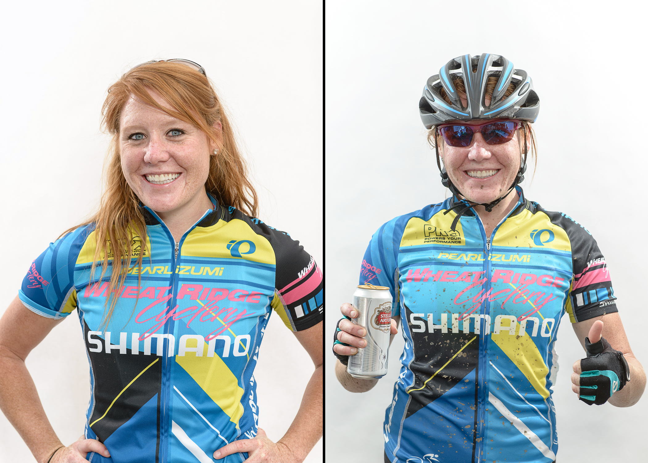 Wheat Ridge 'Cross Team Racer. Before. After.  From the Before. After. Photo Booth.