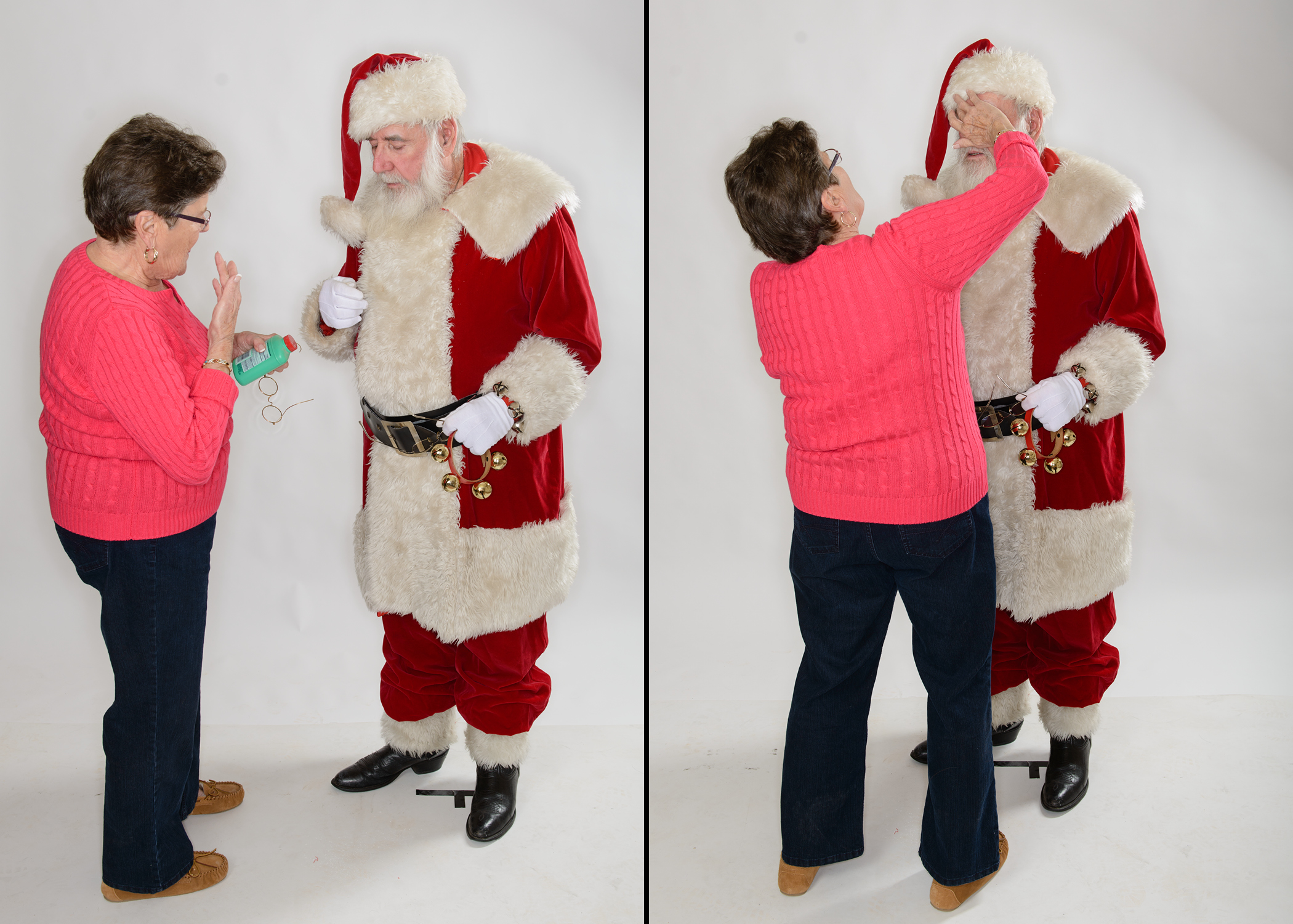 "Pa as Santa with a little help from Gram.  From the ""What I Wear To Work"" portrait series."