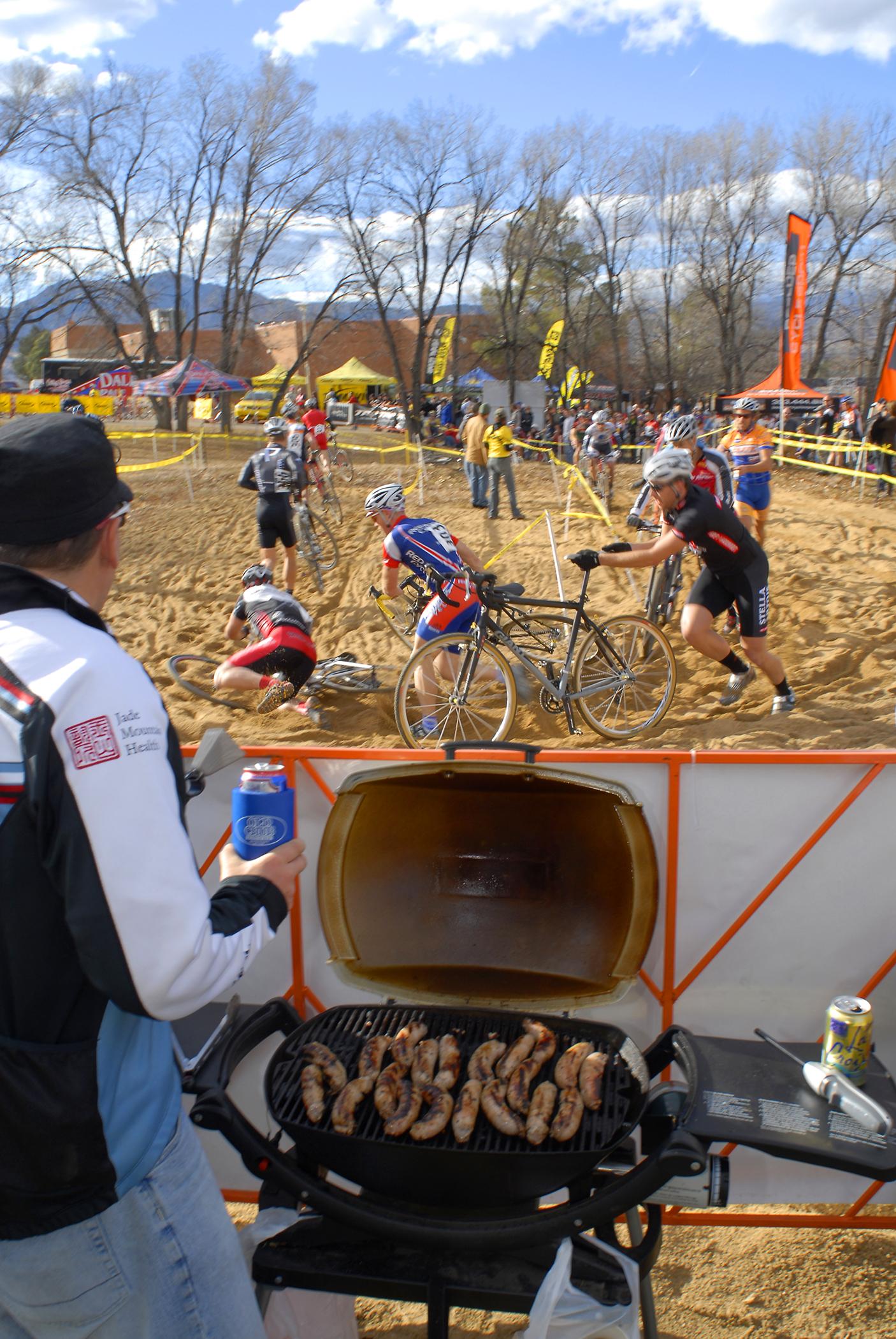 Cyclocross, crashes, brats & beer.
