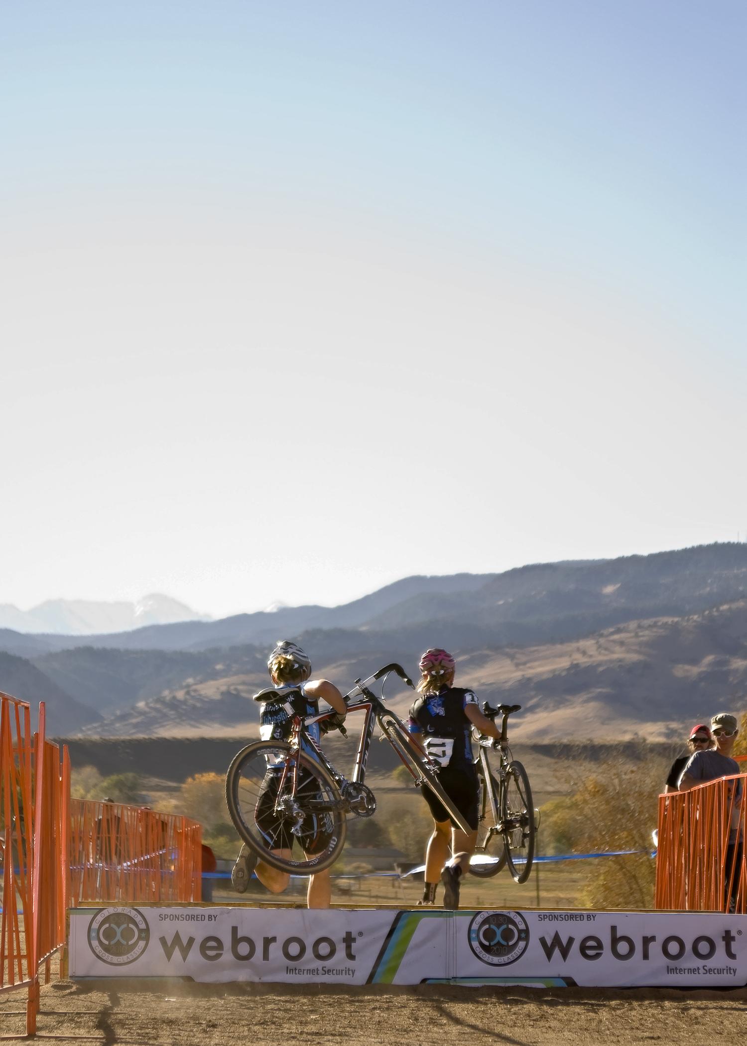 Running the barriers. Boulder Reservoir. Boulder, CO.