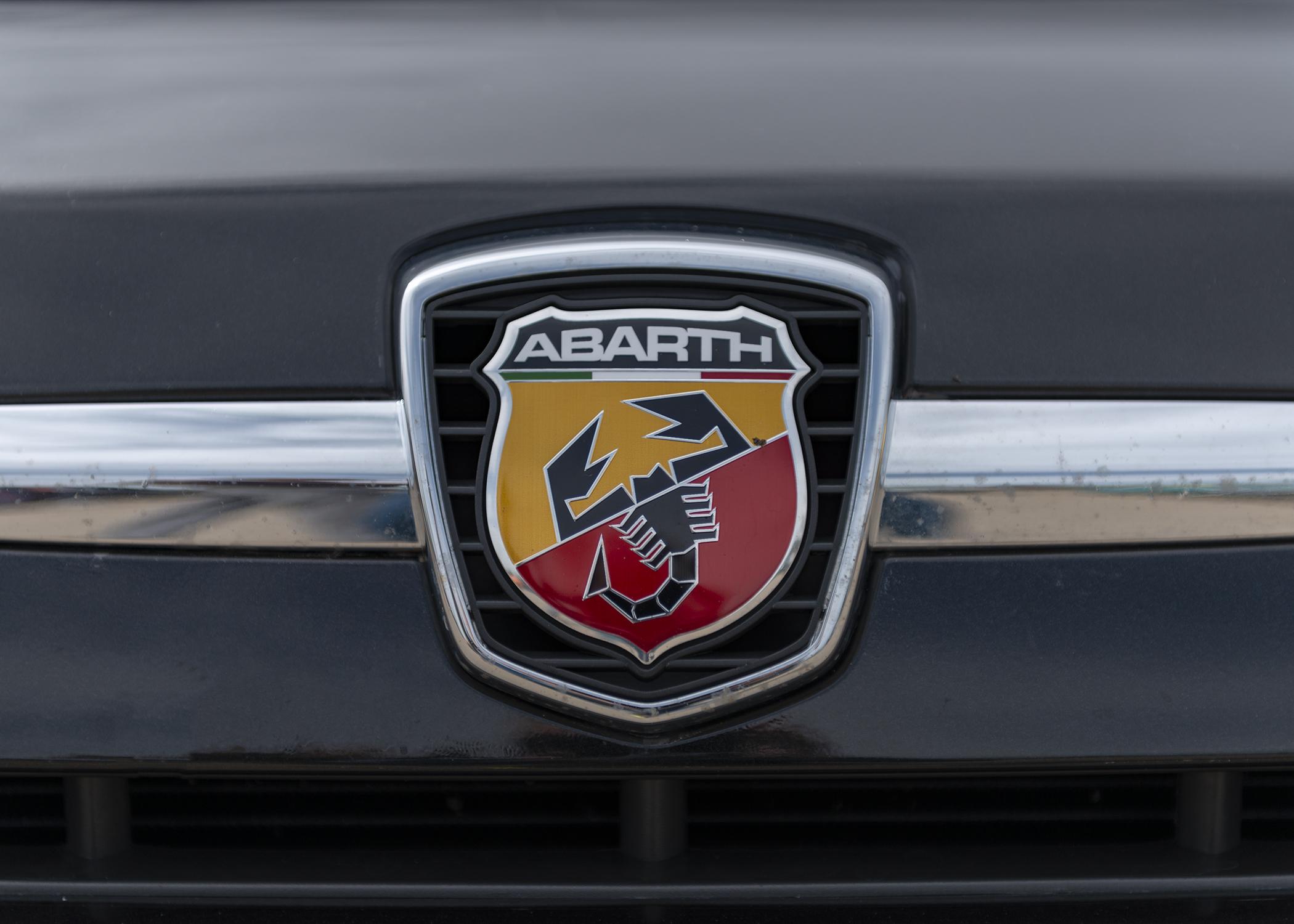 Abarth's exquisite Scorpion Badge.