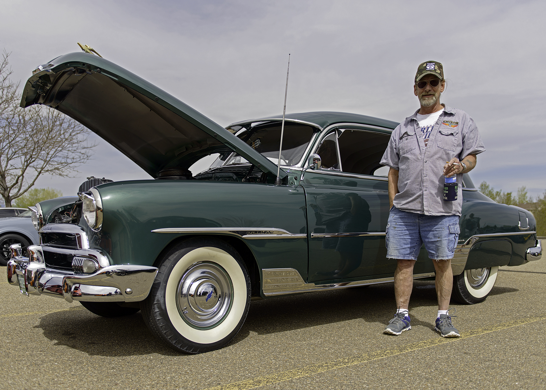 Mac and his beautifully restored Chevrolet DeLuxe.