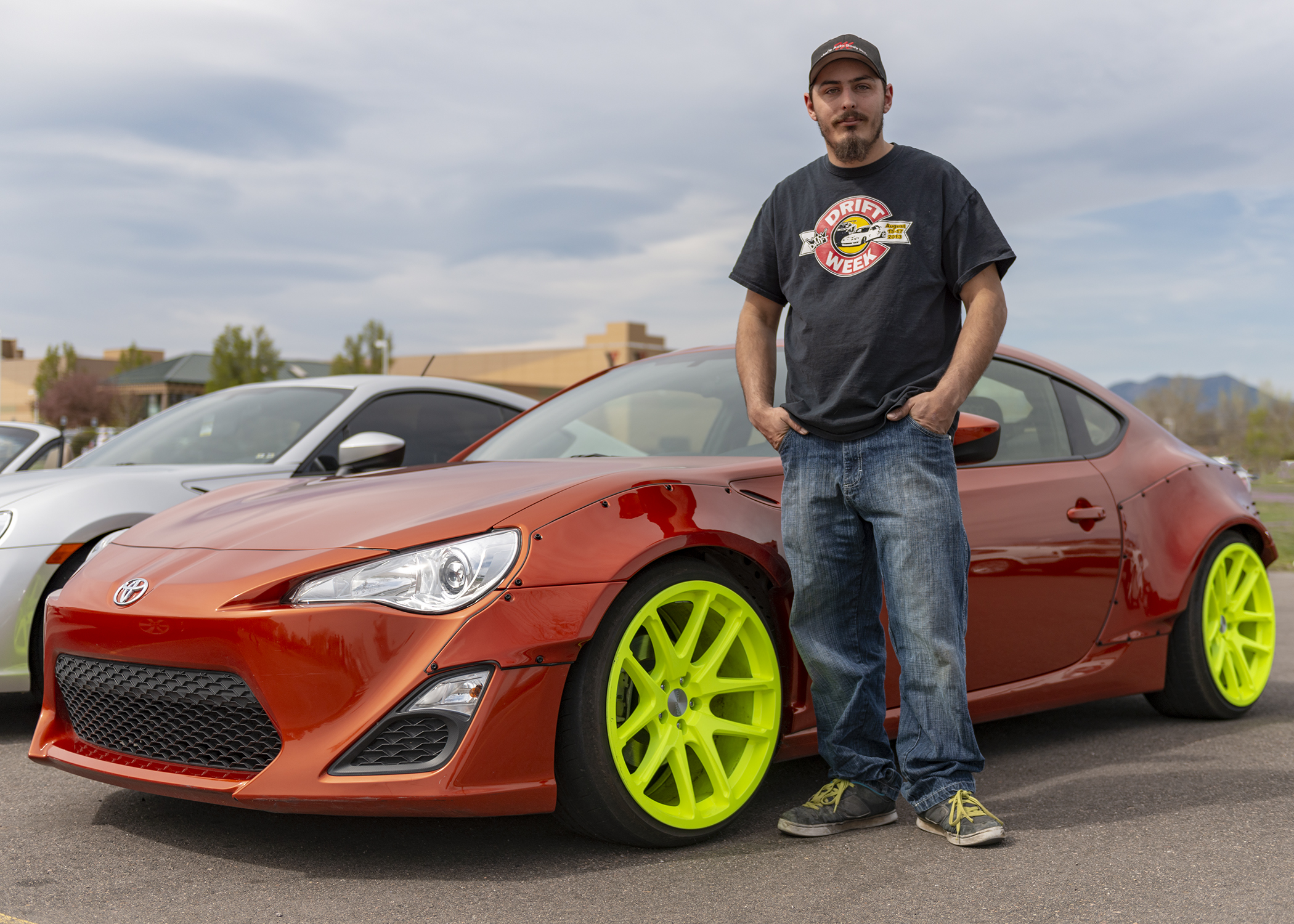 Tuner guy and his custom wide-body Toyota 86.