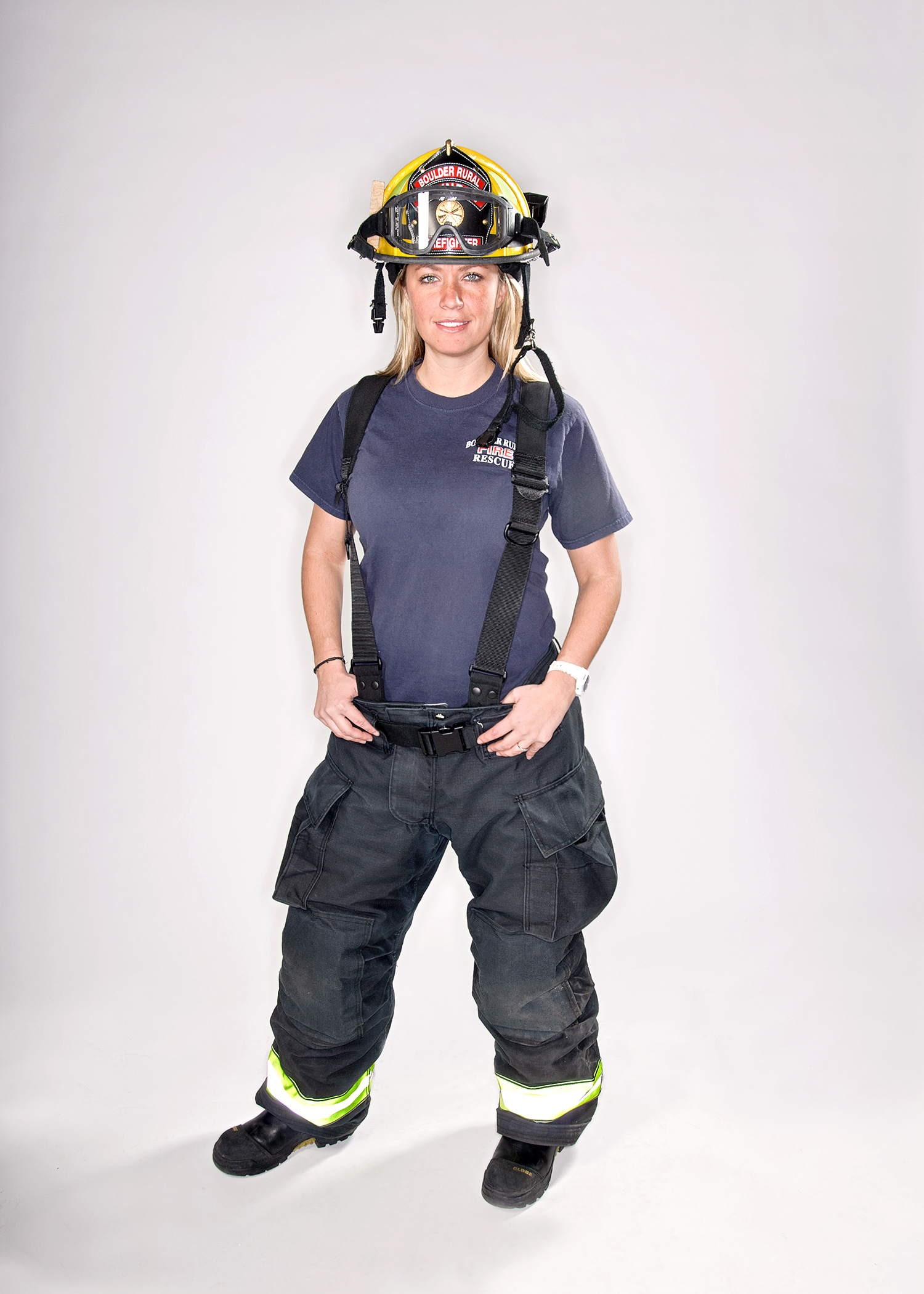Stephanie  Engineer & Paramedic at the Boulder Rural Fire Department.