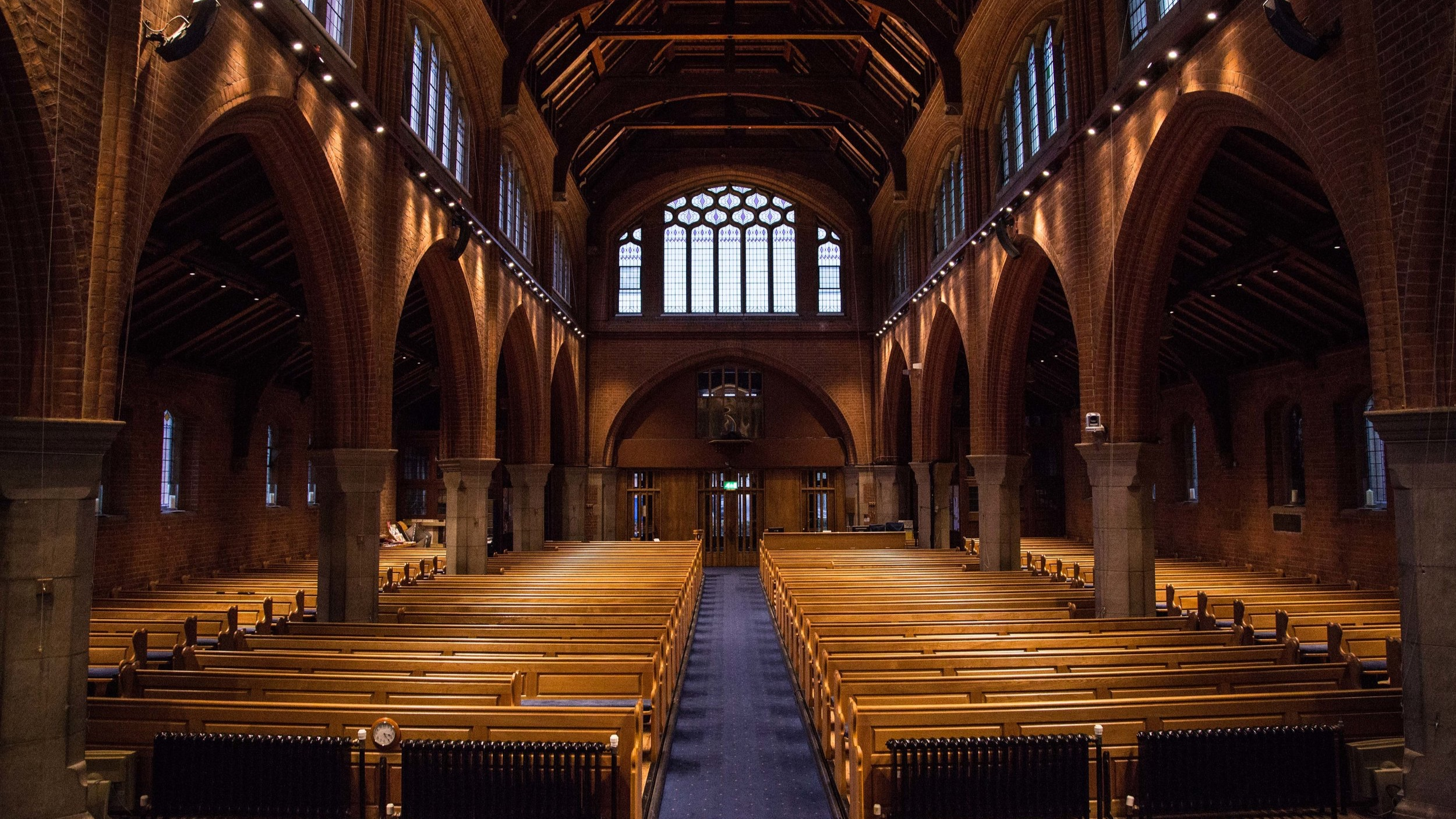 Church (carpet & floorboards) - Capacity: 500 seated in pewsIdeal for: Concerts, lectures, etc.Cost: £400 a day