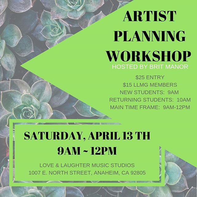 This Saturday!!! Please note.  Those who attended the last workshop, should arrive at 10am.  Newbies at 9am.  See you Saturday.  #americansongwriter #songwritersfirst #planning #recordingstudio #livemybestlifeeveryday @loveandlaughtermusic