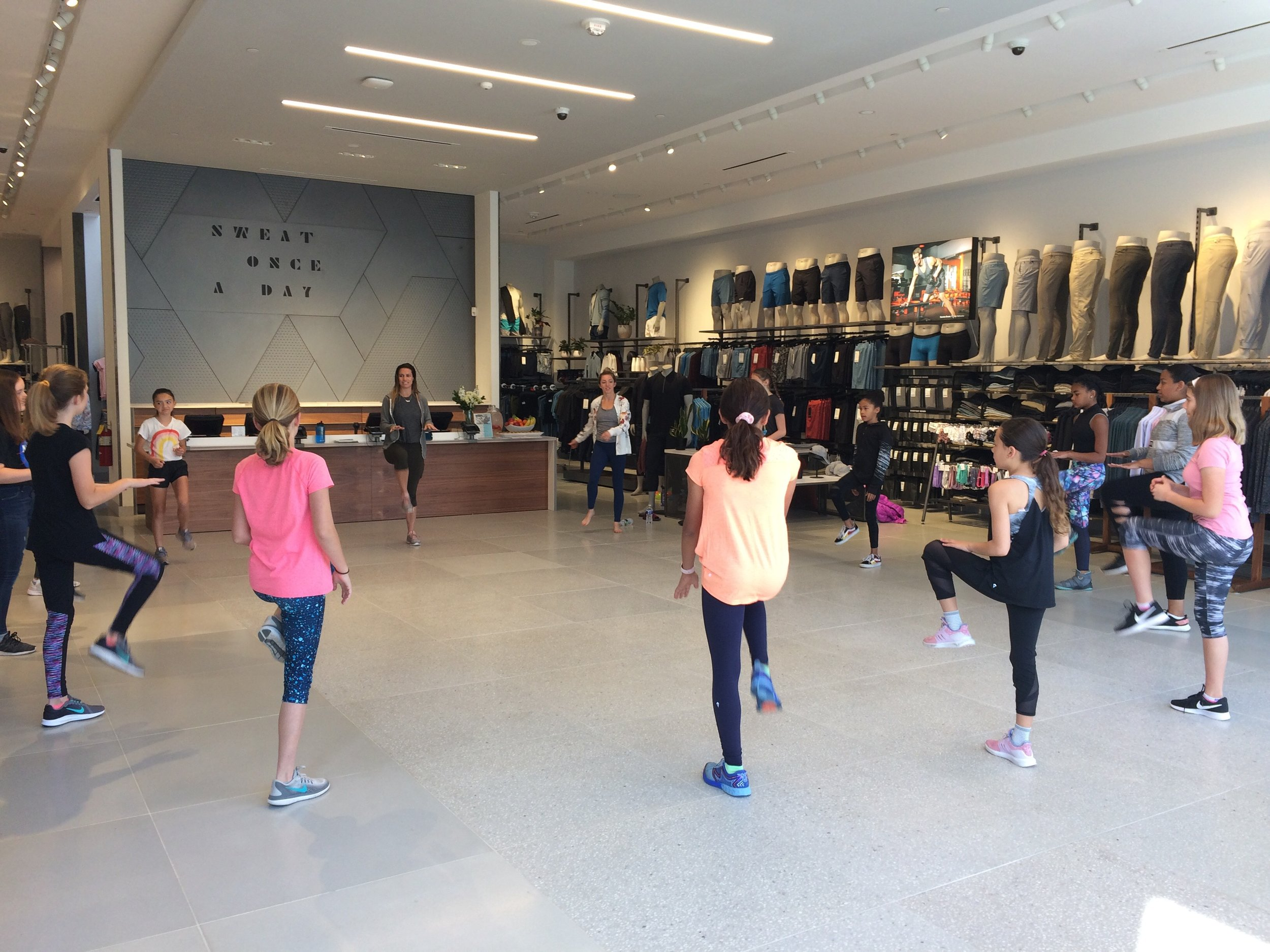 Kids Fitness class at Lululemon