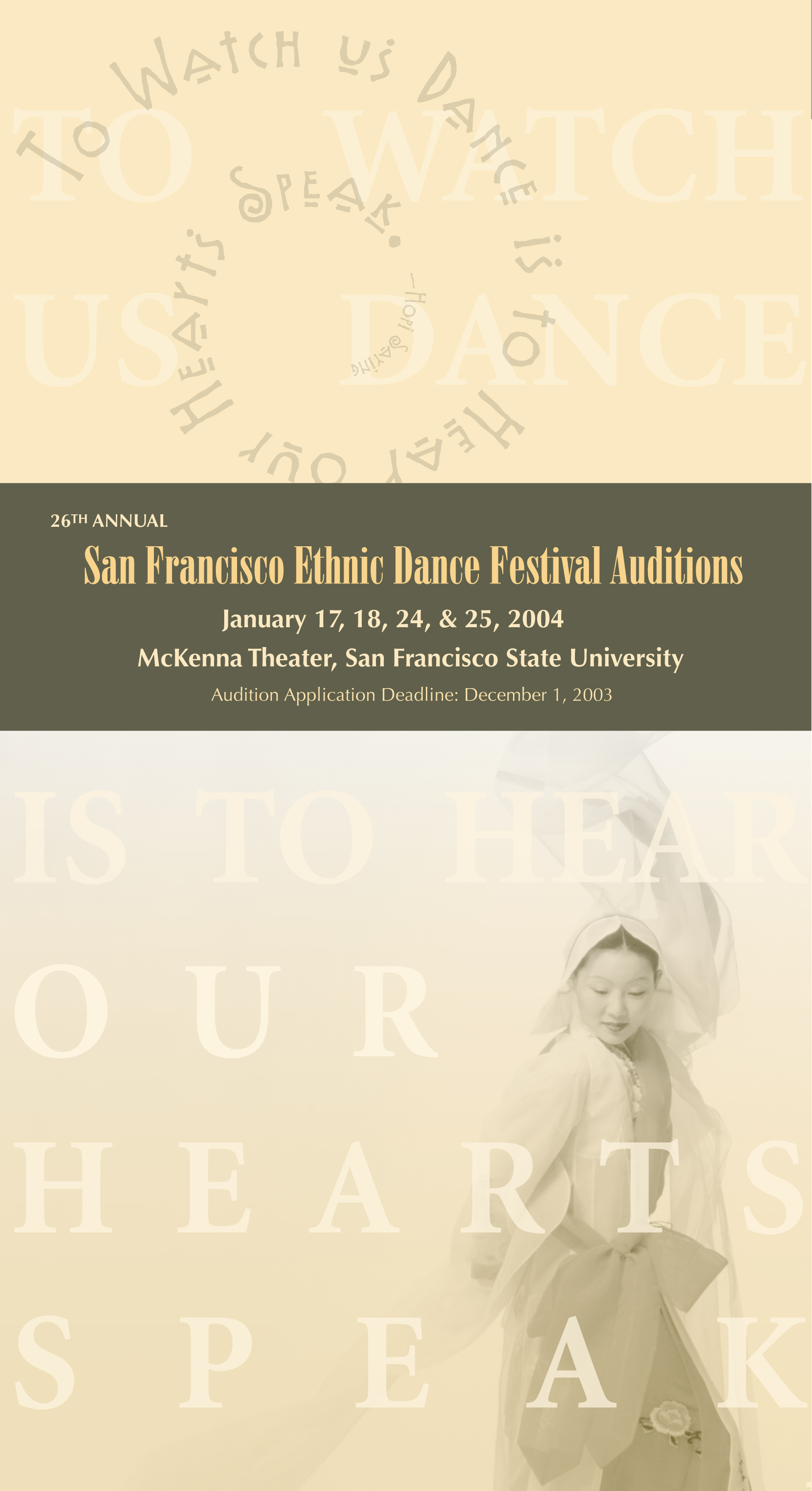 World Arts West, SF Ethnic Dance Festival Audition Application