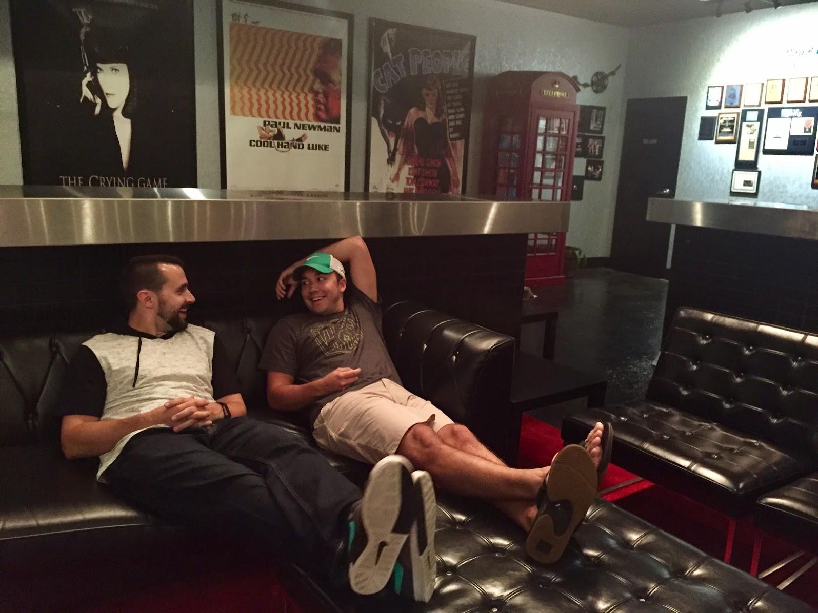 bromance at the movie theatre