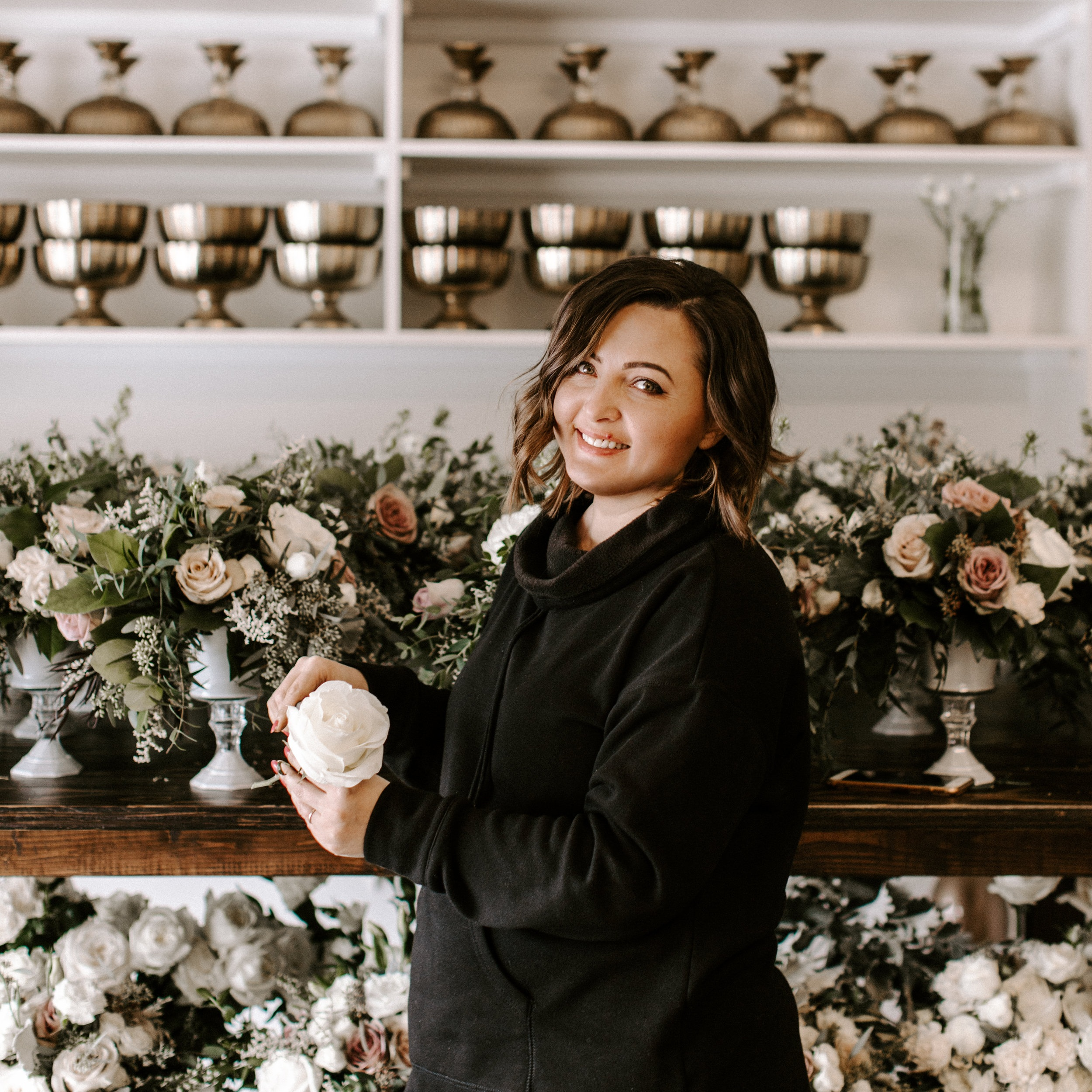 "- ""I love getting to know you, hearing your story, understanding your vision for the wedding, and seeing all of those ideas come to life through my floral designs."""